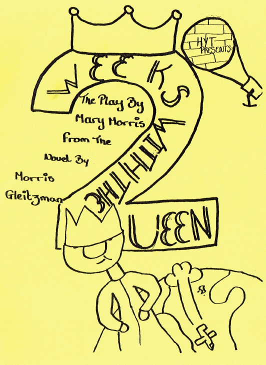 Program cover for Two Weeks with the Queen - by Emma and Katie Foster