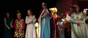 The cast dance with the newly awoken Princess Aurora