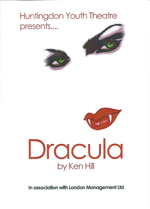 The eerie poster of our 2003 production of Dracula