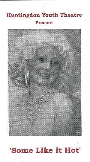 The Some Like It Hot program cover featuring Gemma Crossland in the Marilyn Monroe role of Sugar Kane